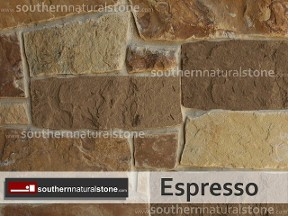 Thin Veneer Chopped Natural Stone, Espresso Moon Stone