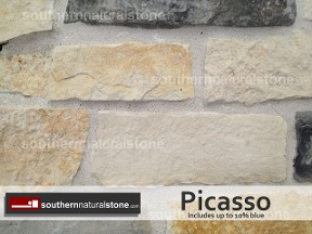 Thin Veneer Chopped Natural Stone, Picasso Stone