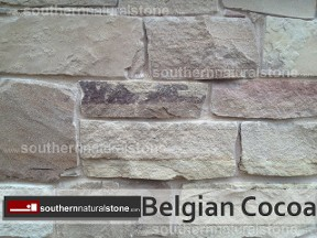 Thin Veneer Chopped Natural Stone, Belgian Cocoa Stone