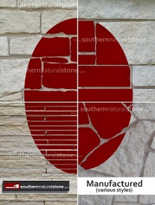 Manufactured, Cultured Stone shapes, styles